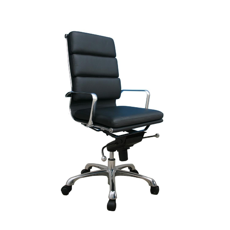 black leather office chair high back serta jennings review plush aptdeco