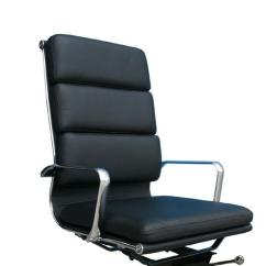 Plush Leather Chair Cheap Folding Tables And Chairs High Back Black Office Aptdeco