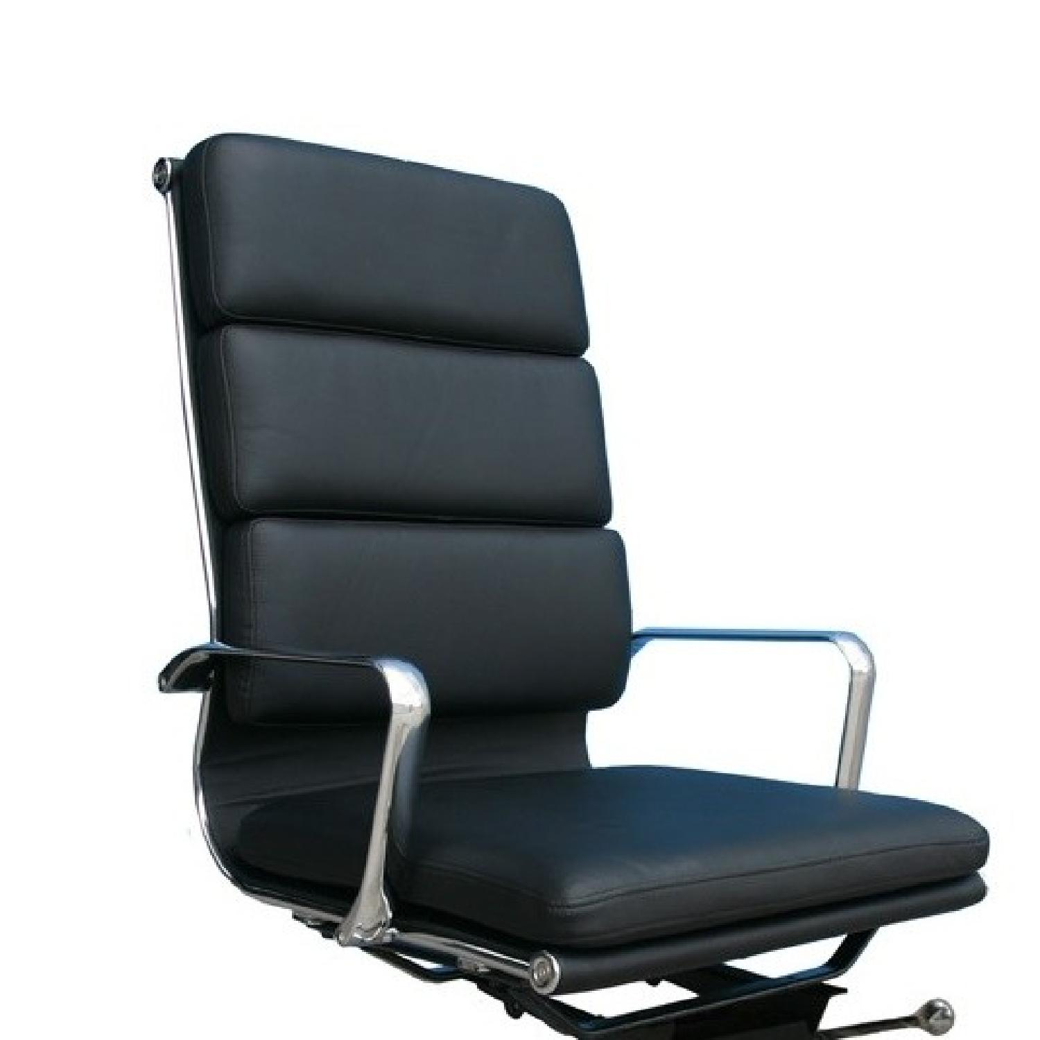 Plush Office Chair Plush High Back Black Leather Office Chair Aptdeco