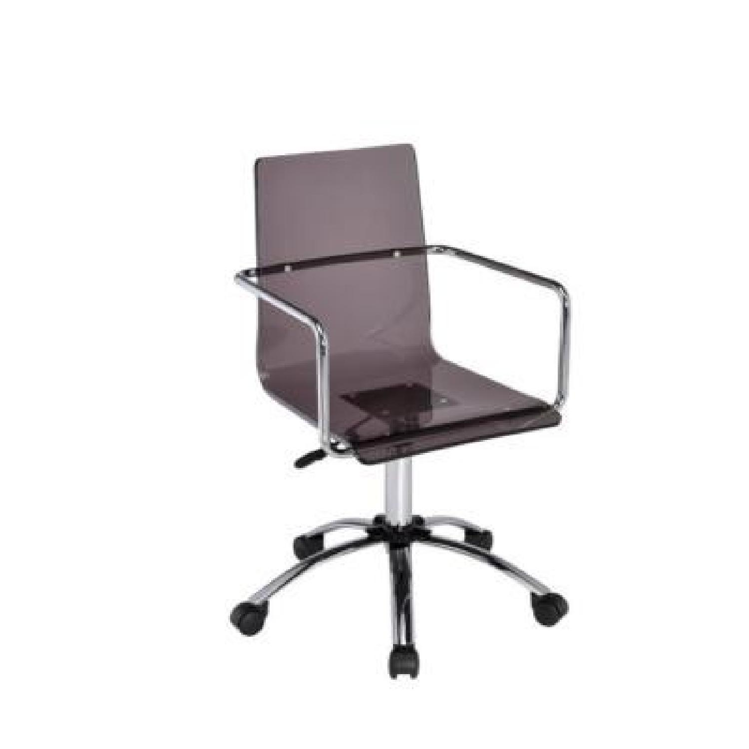 chair steel base with wheels dx razer smoked acrylic office w aptdeco