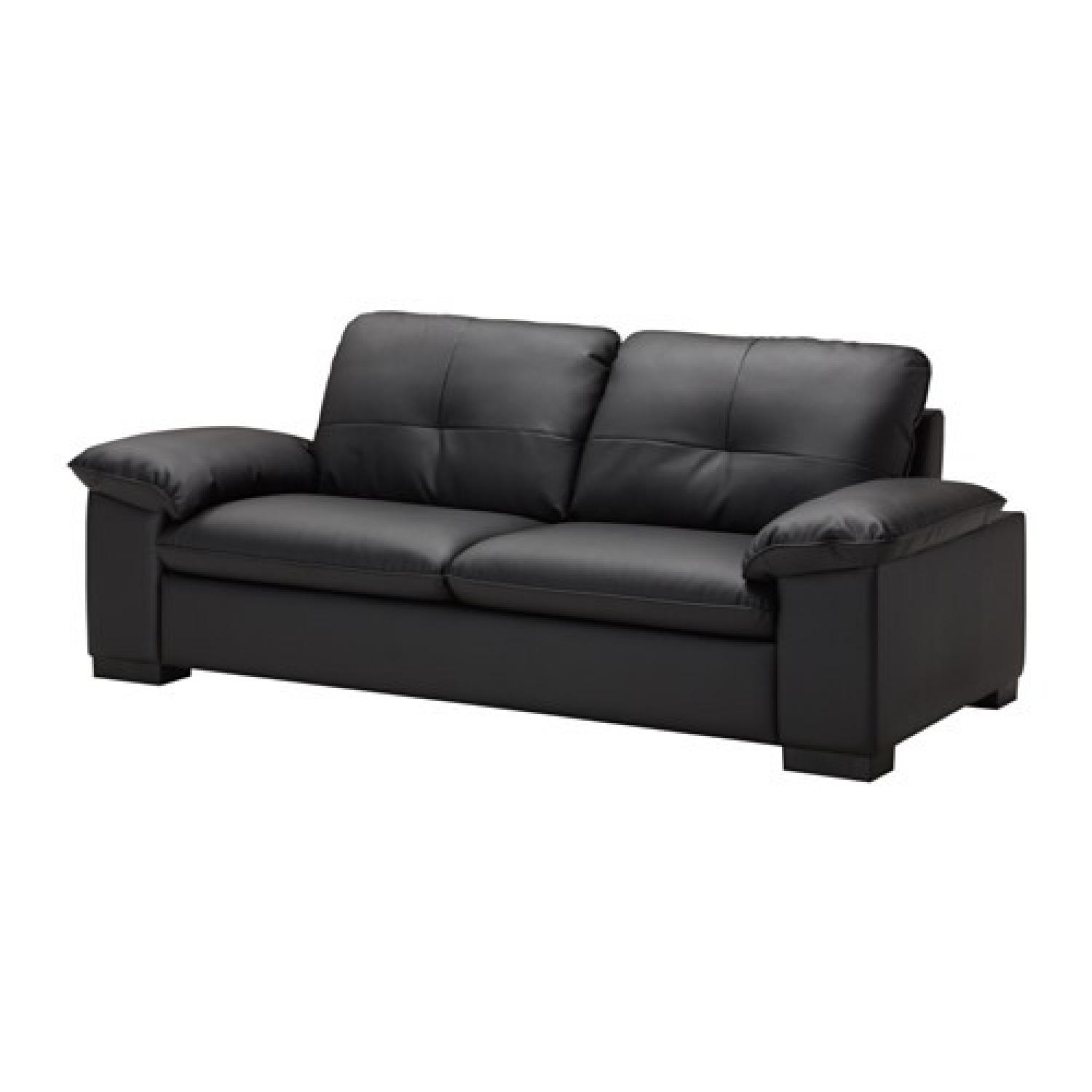 black leather chair ikea swing mumbai dagstorp 2 seat sofa aptdeco