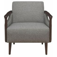 Contemporary Accent Chairs With Arms Room Essentials Sphere Chair Mid Century Modern In Grey Fabric W Wood