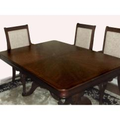 Raymour And Flanigan Kitchen Sets Ella's Stage 1 Mahogany Dining Table W 6 Chairs Aptdeco
