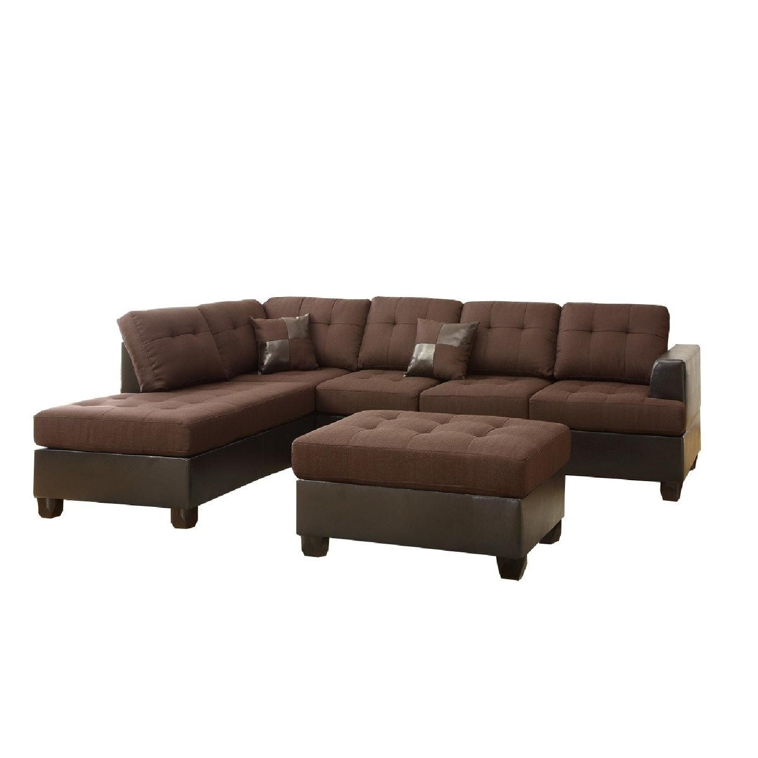 reversible sectional sofa chaise what is a full size sleeper 3 piece in brown aptdeco