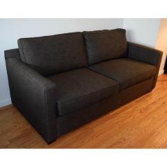 Crate And Barrel Davis Sofa Leather Big Sectional Apartment Aptdeco