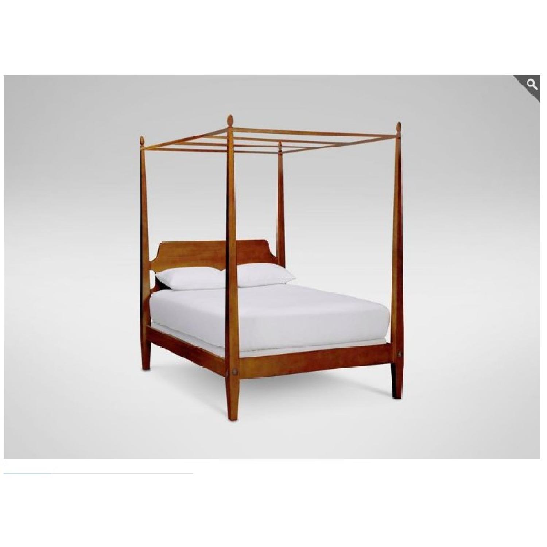 ethan allen barrett modern canopy bed