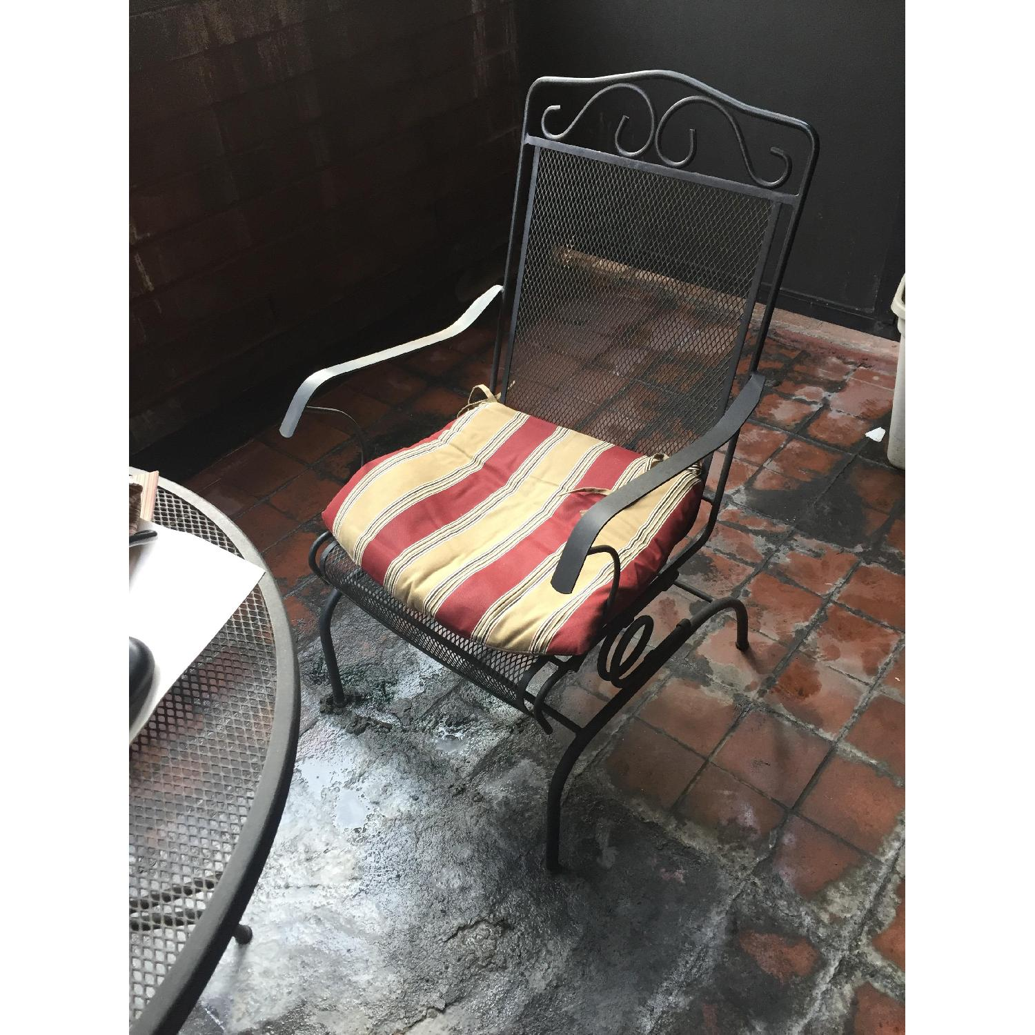 home depot wrought iron outdoor chair