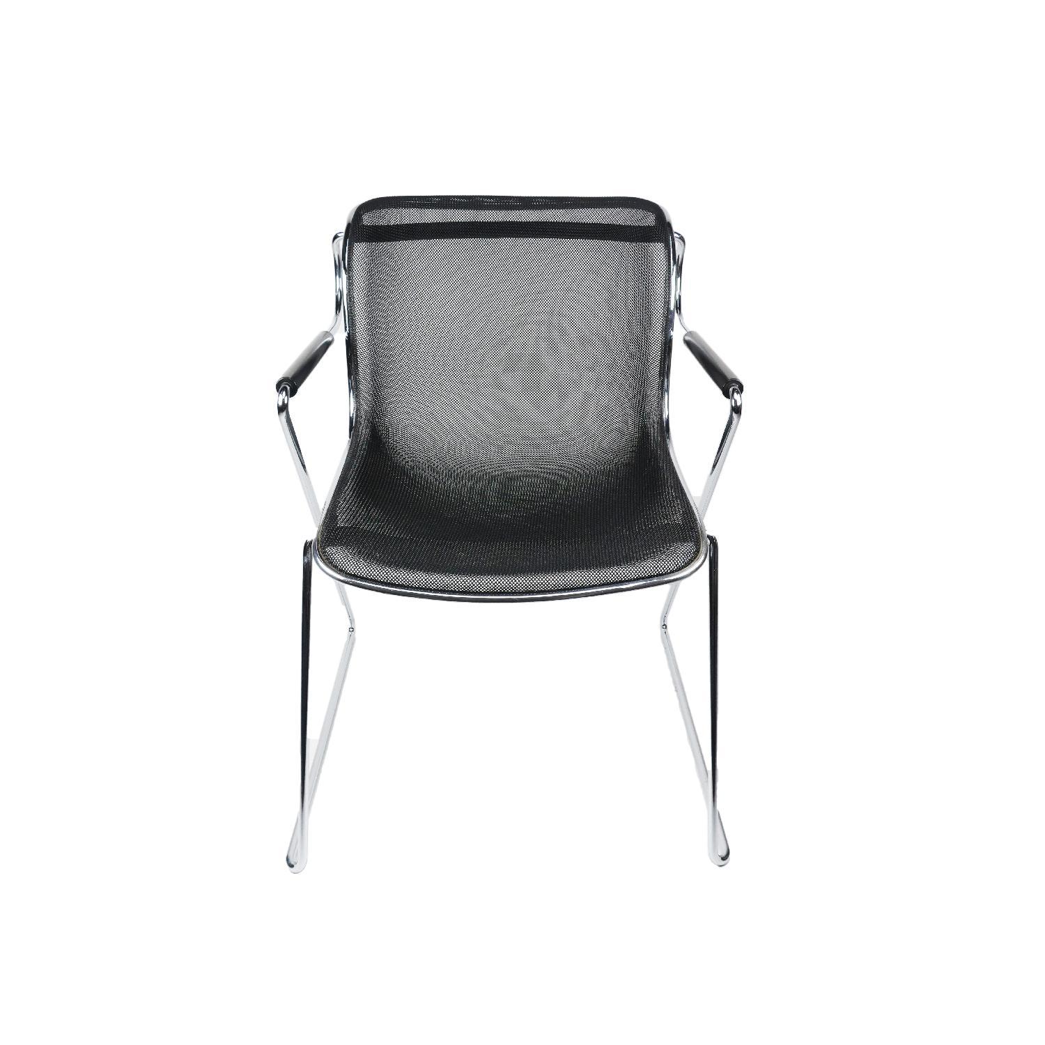 Charles Pollock Chair Charles Pollock Penelope Chair In Chrome And Steel Aptdeco