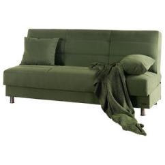 Contemporary Sleeper Sofa Bed Compact Green Convertible Aptdeco