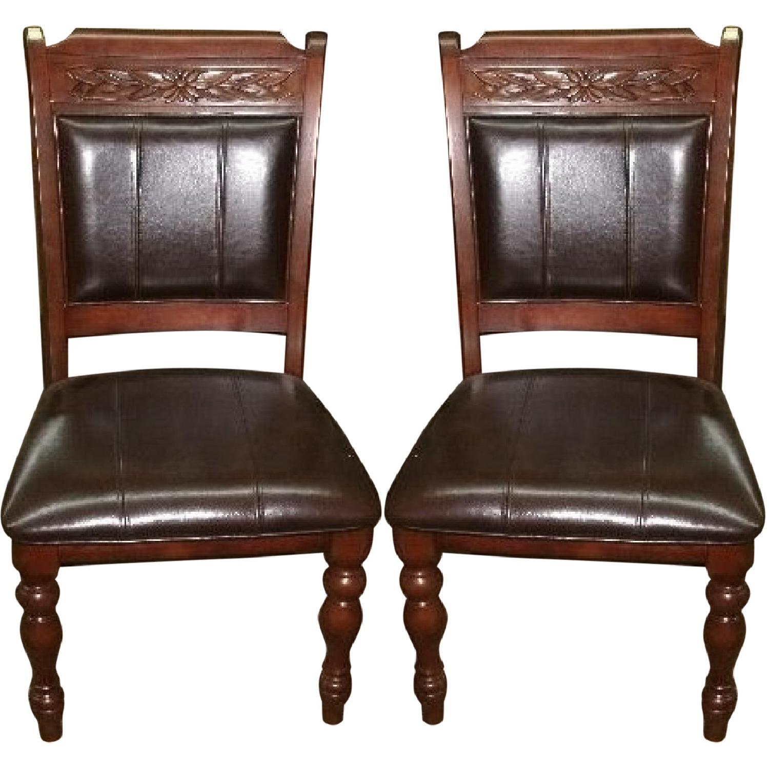 Set Of Accent Chairs Wood Dining Accent Chairs Set Of 2 Aptdeco