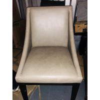 West Elm Grey Leather Dining Room Chair - AptDeco