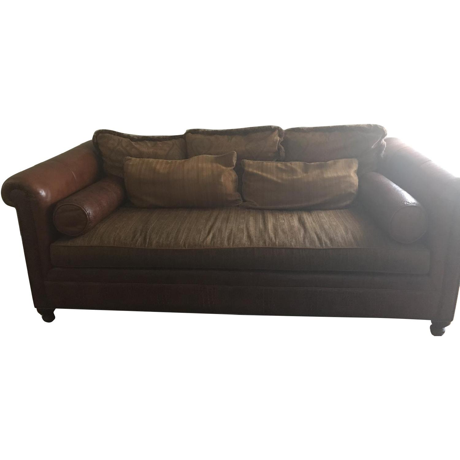 stickley furniture leather sofas baker audi sun valley chalet saddle fabric