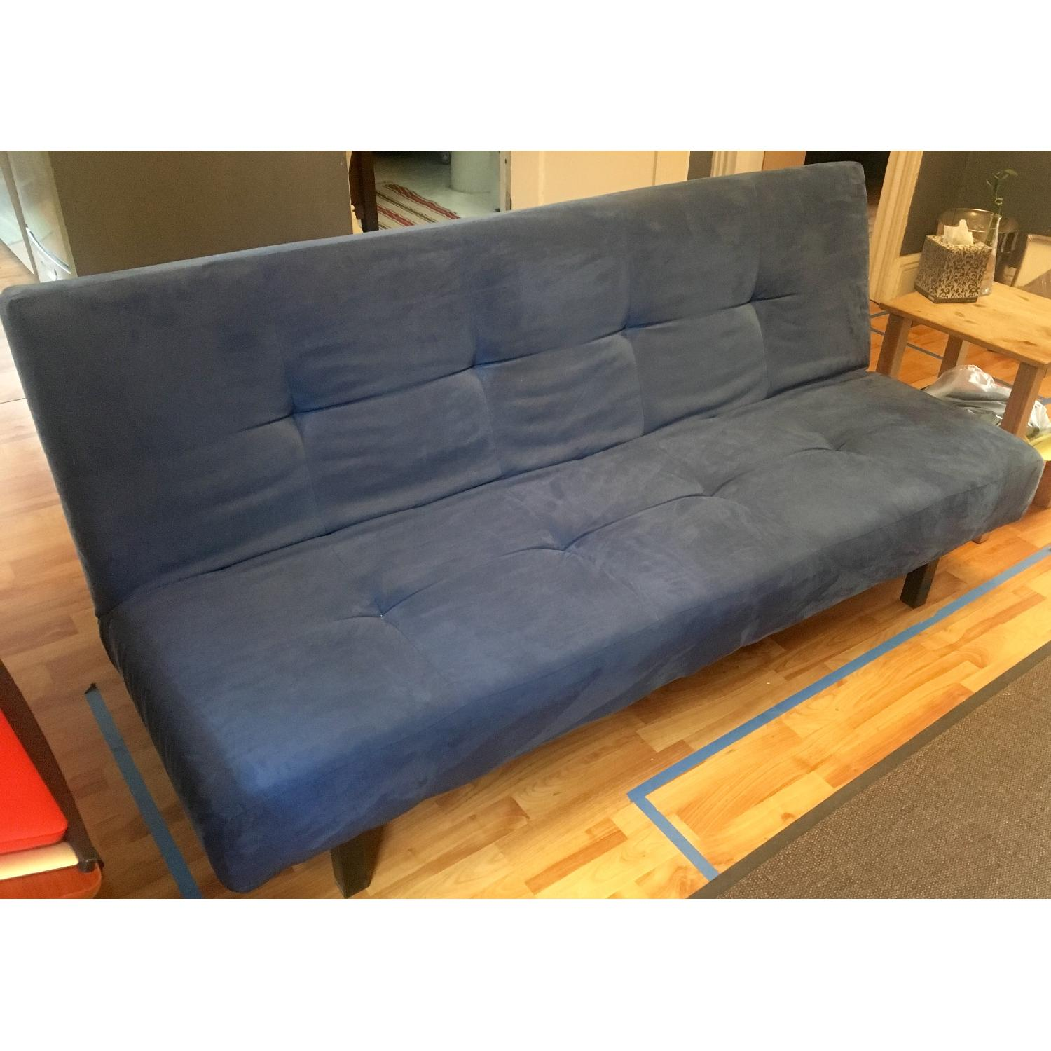 crate and barrel sofa sleeper review upholstery cleaning ikea balkarp bed in blue - aptdeco