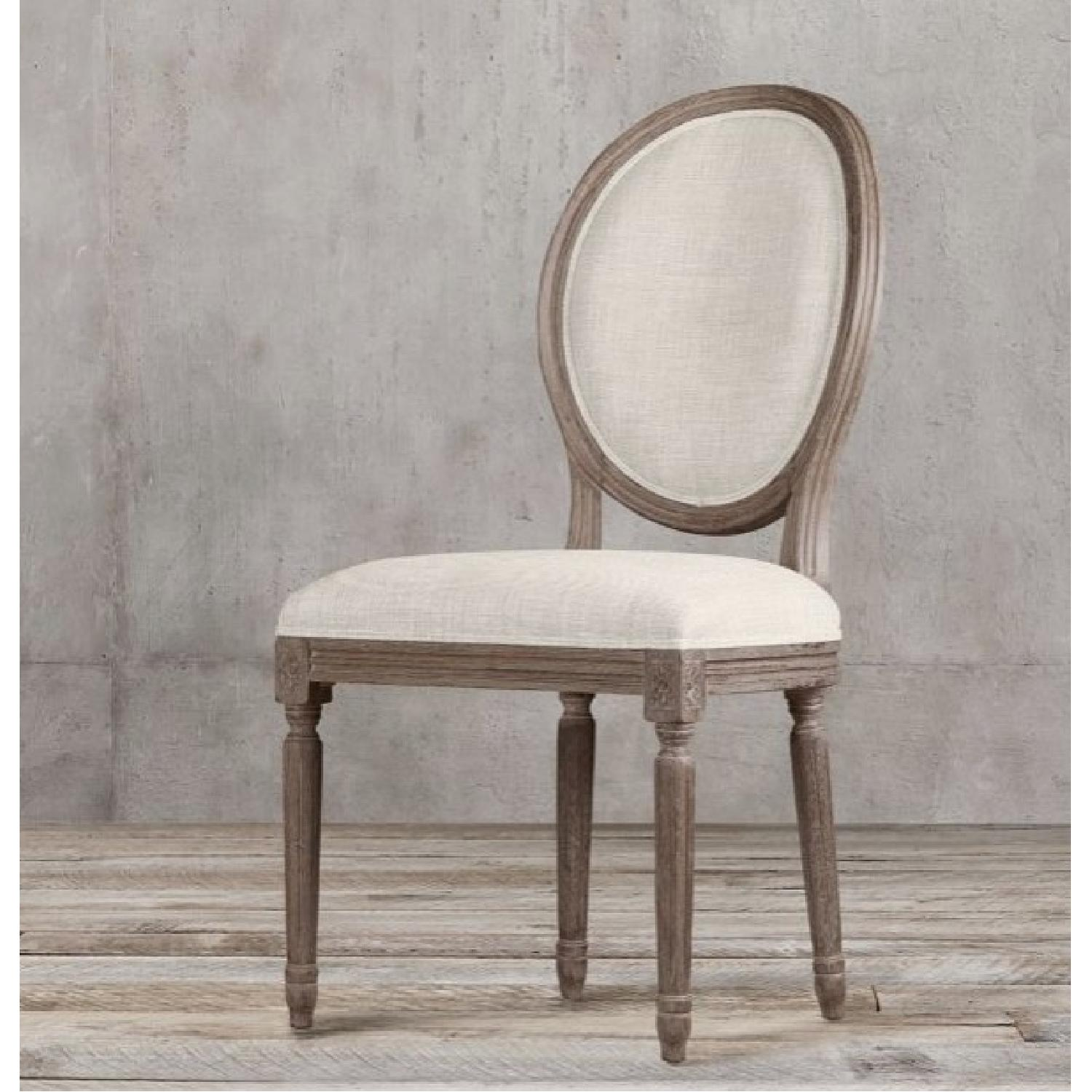 Restoration Hardware Dining Chairs Restoration Hardware Vintage French Round Fabric Back Chairs