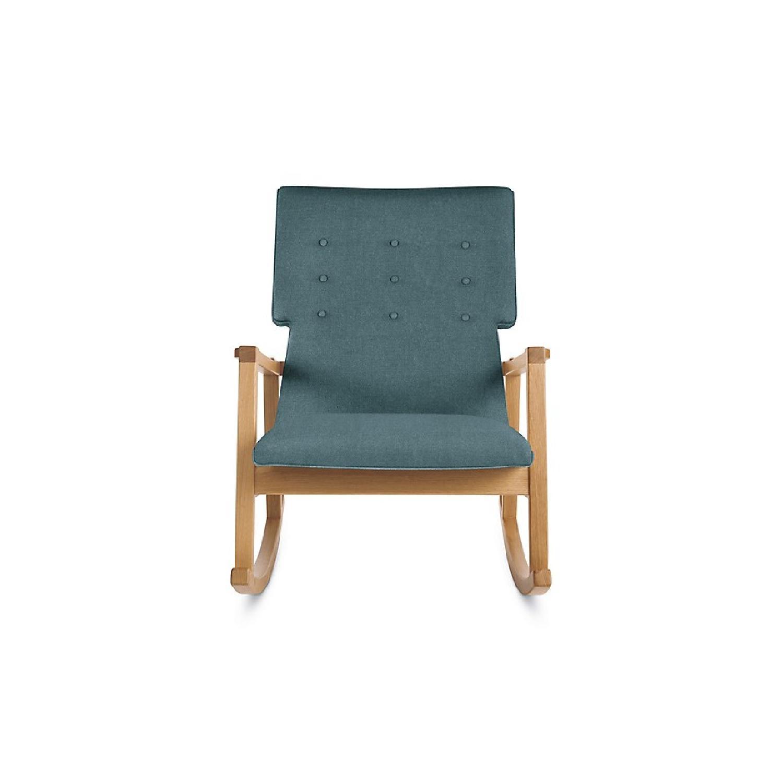 design within reach rocking chair navy blue wingback chairs risom rocker aptdeco