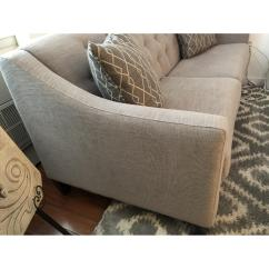 Light Gray Fabric Sectional Sofa Sam S Club Leather Reclining Raymour And Flanigan Beckham Aptdeco