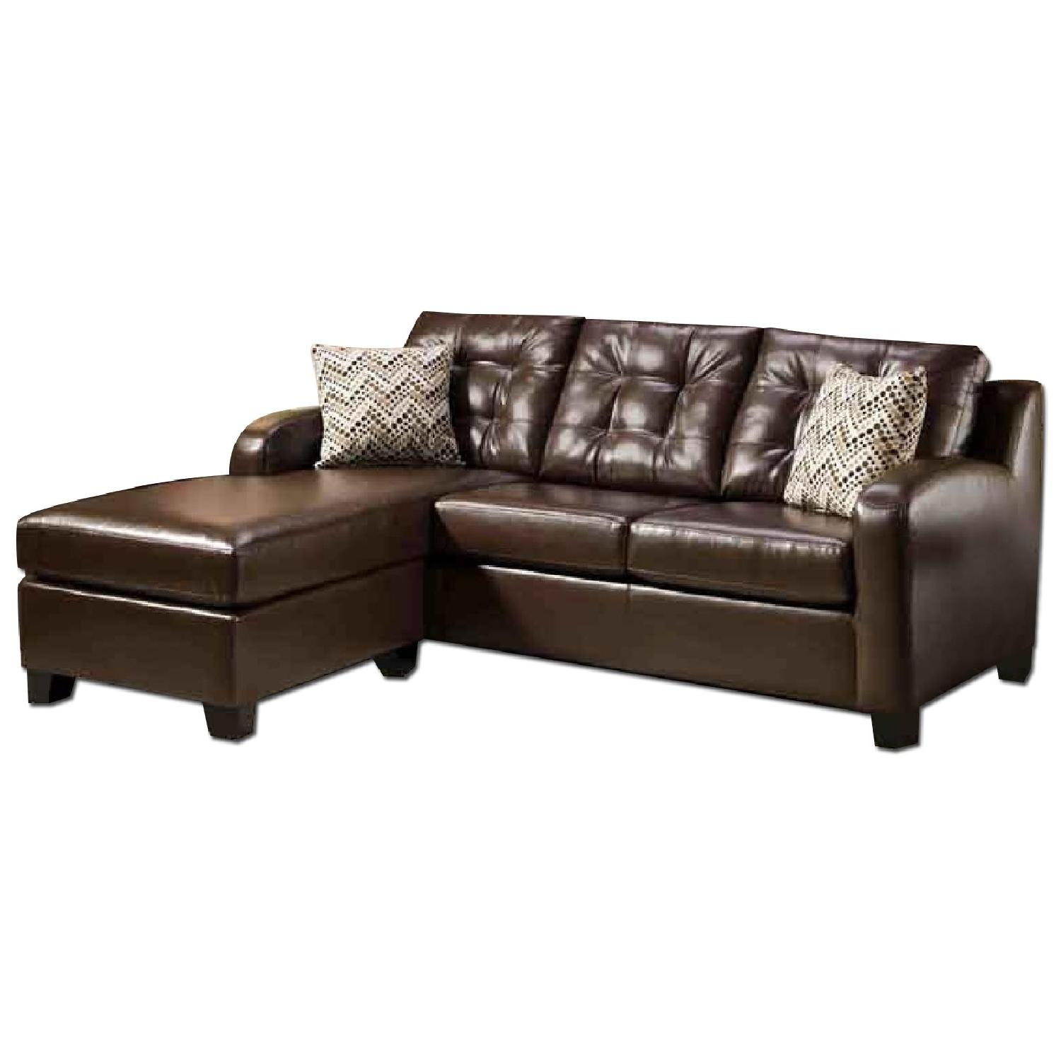 Leather Sofa w/ Chaise