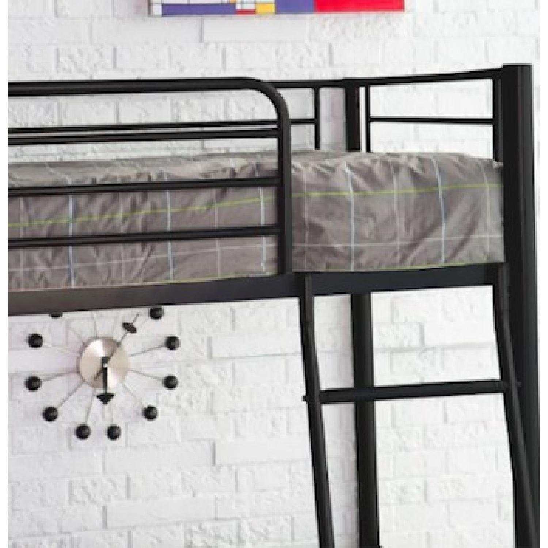 Hayneedle Duro Chicago Twin Over Twin Bunk Bed In Black Aptdeco