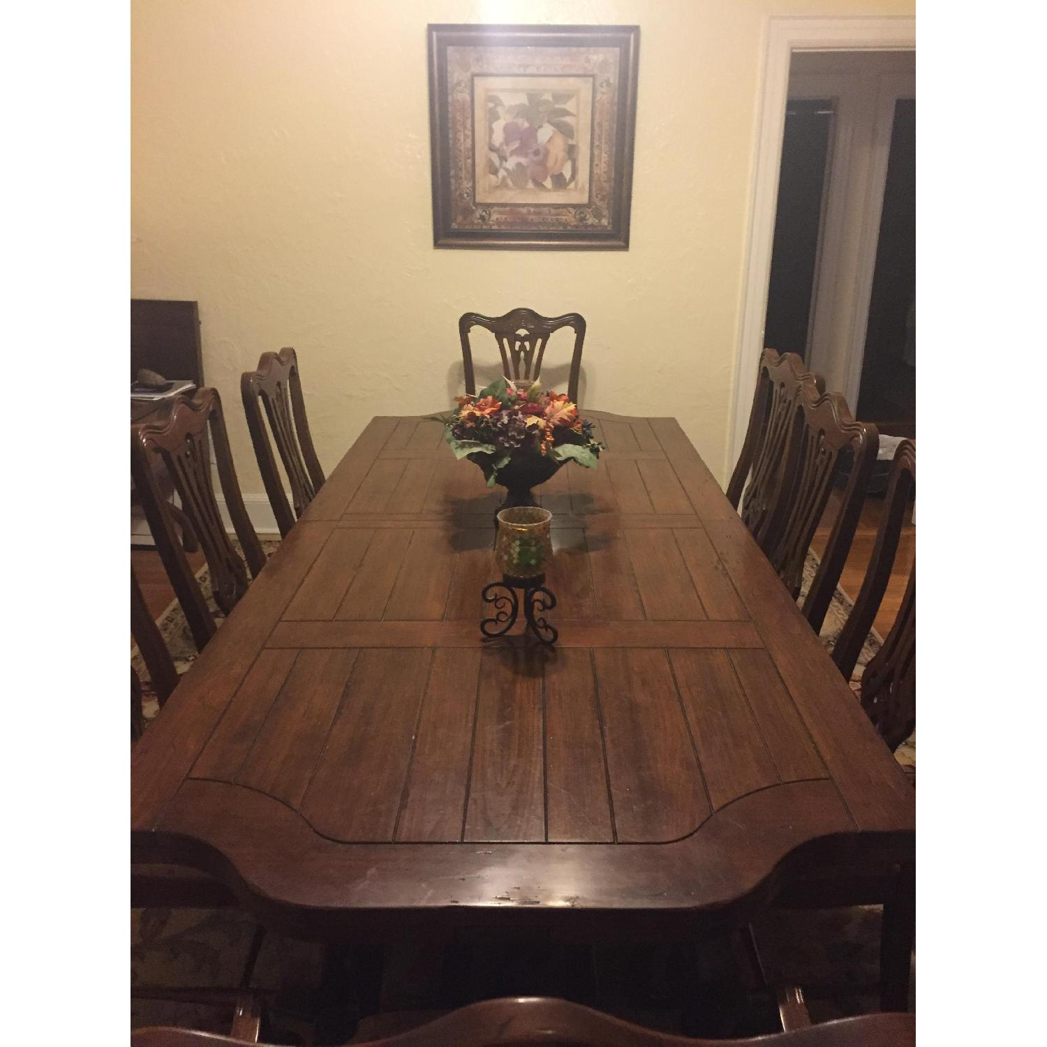 Dining Table 8 Chairs Wood Dining Table W 8 Chairs