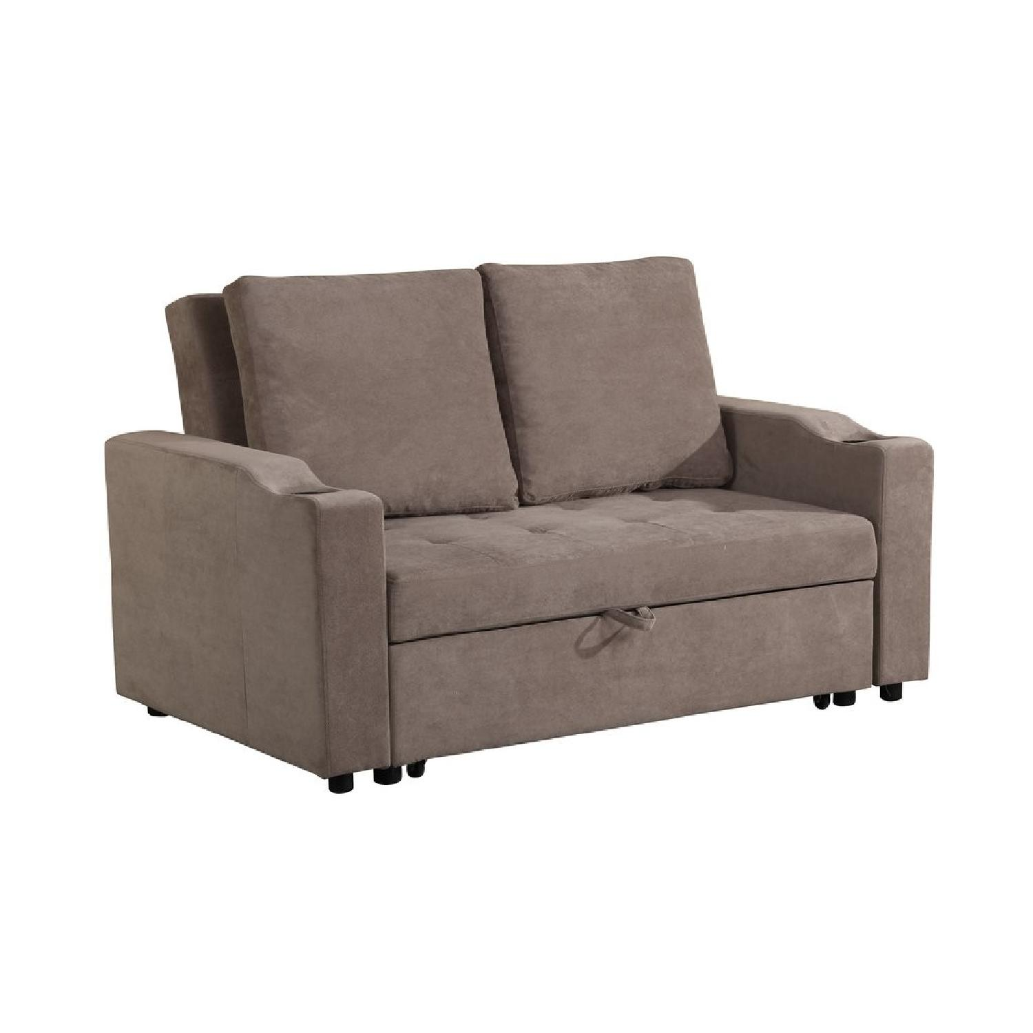 modern convertible sofa with pull out bed flexsteel brown leather reclining sleeper aptdeco slide