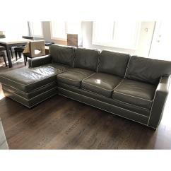 Sage Green Leather Sofa Ikea Klippan Vanguard 2 Piece Sectional W Cream