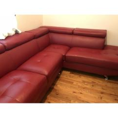 8 Piece Leather Sectional Sofa 84 Sofas Under 1000 Red 3 Aptdeco