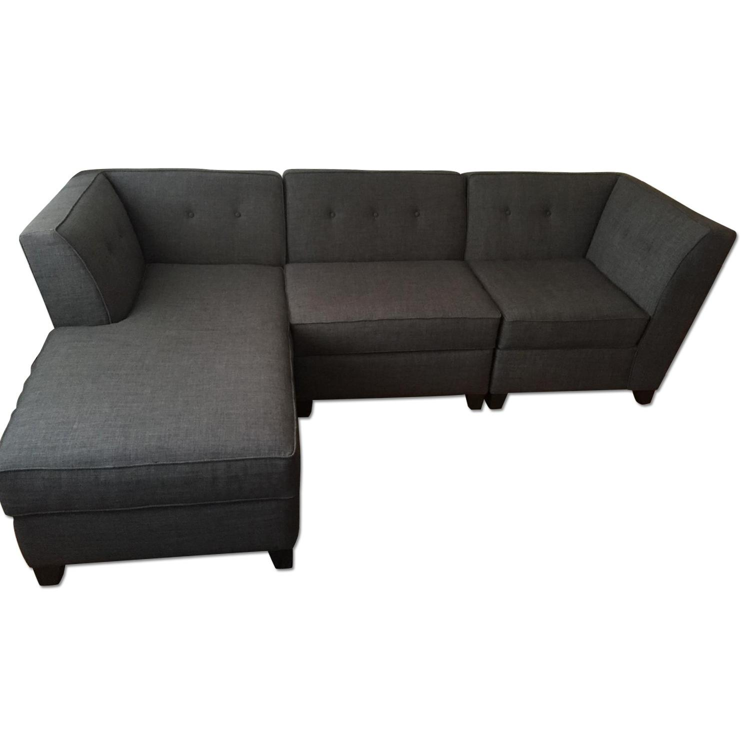harper fabric 6 piece modular sectional sofa bed with storage drawer sell furniture aptdecosell aptdeco