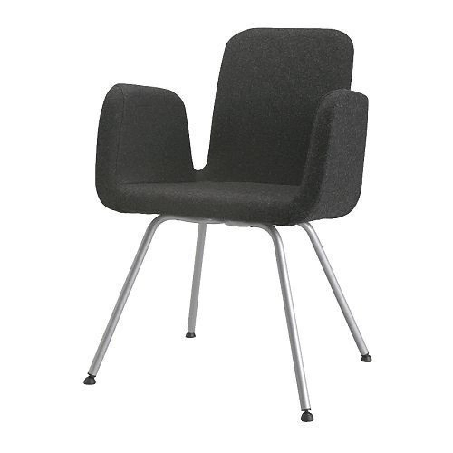 office side chair dining table and chairs argos ikea charcoal grey wool felt aptdeco per set of 6
