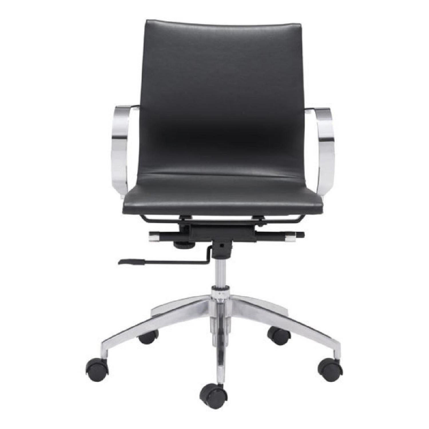 Low Back Office Chair Manhattan Home Design Black Low Back Office Chair