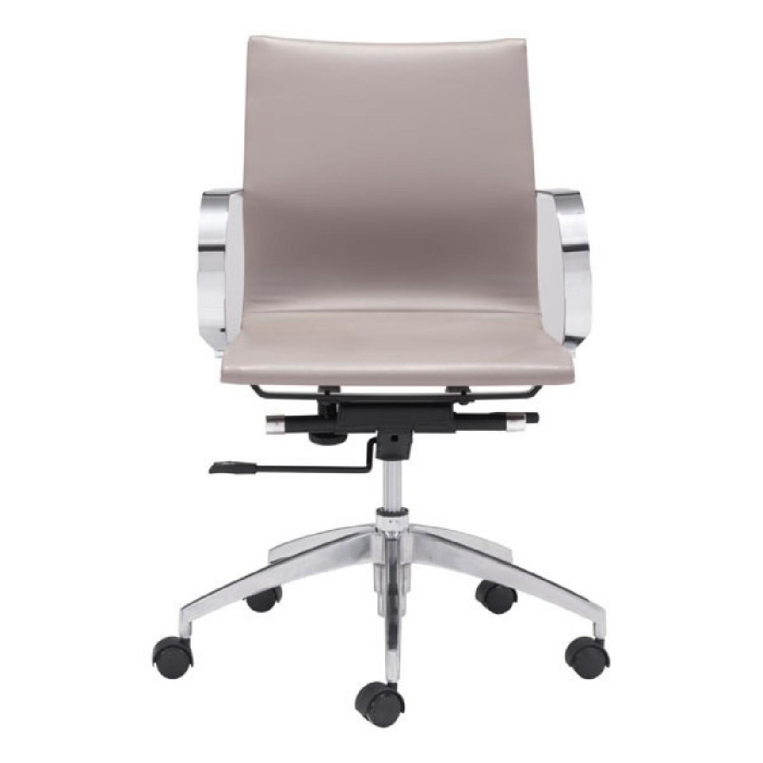 Low Back Office Chair Manhattan Home Design Taupe Low Back Office Chair