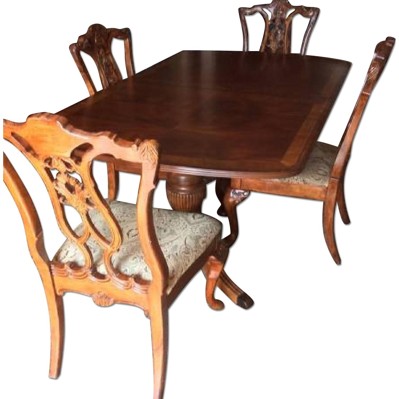 Huffman Koos Furniture Cherry Wood 8 Piece Dining Room Set Aptdeco
