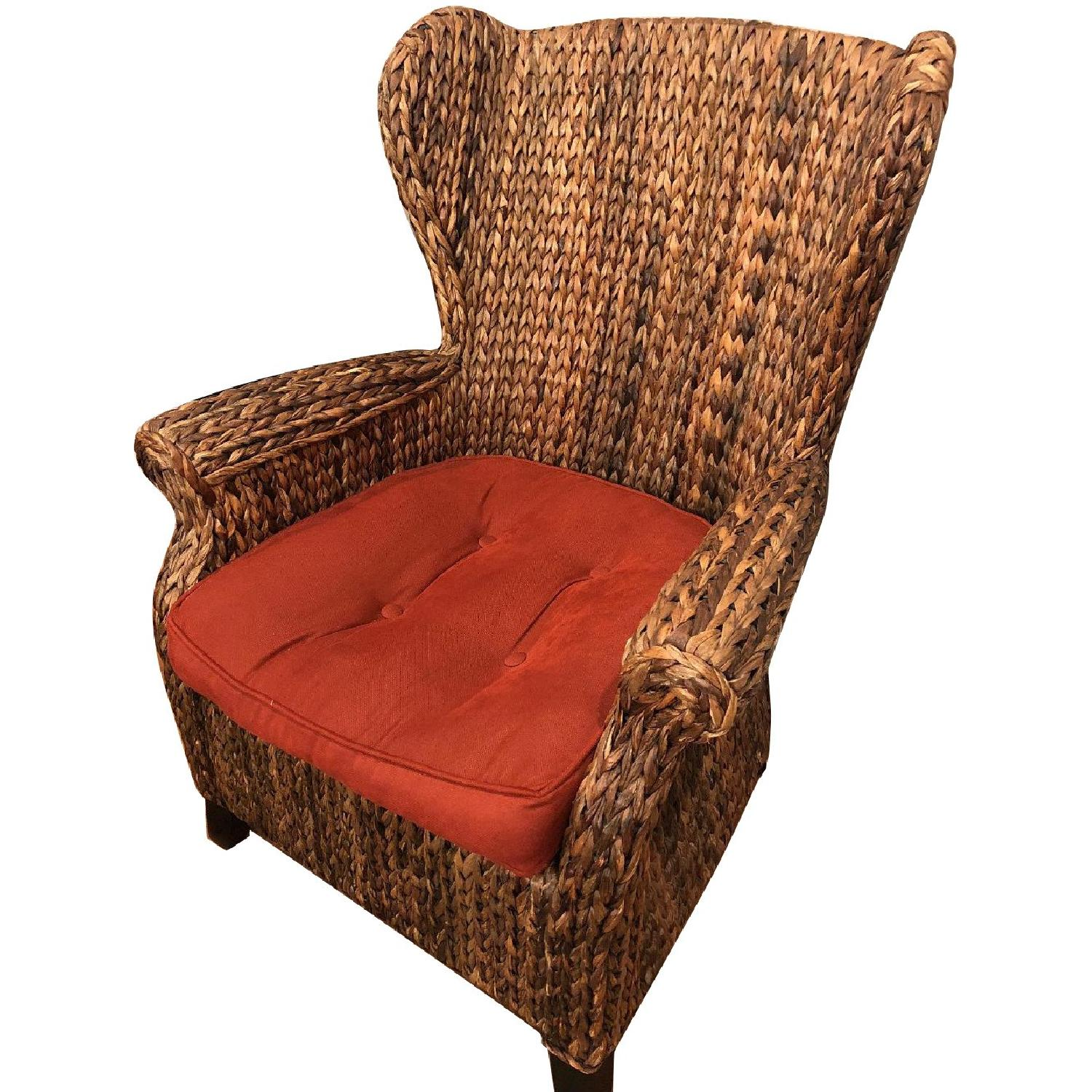 wicker wingback chairs dining room table with bench and pier 1 chair in mahogany aptdeco slide