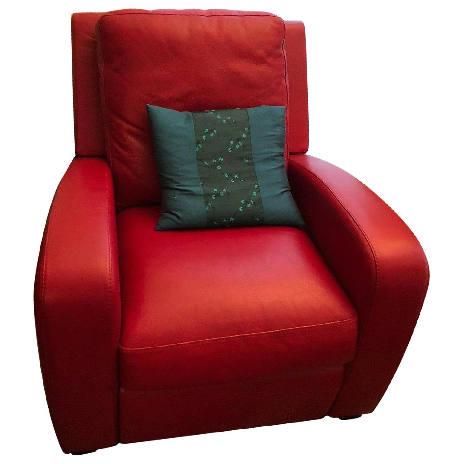red recliner chairs booster for toddlers crate barrel leather in aptdeco slide