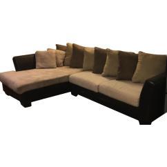 Sofa W Chaise Sofascore Roma Vs Juventus Faux Leather 2 Piece Sectional Aptdeco Slide