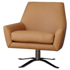 Swivel Chair West Elm Papasan Niels Upholstered Wing Aptdeco