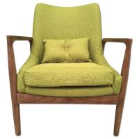 Mid Century Danish Modern Solid Wood Lounge Arm Chair ...