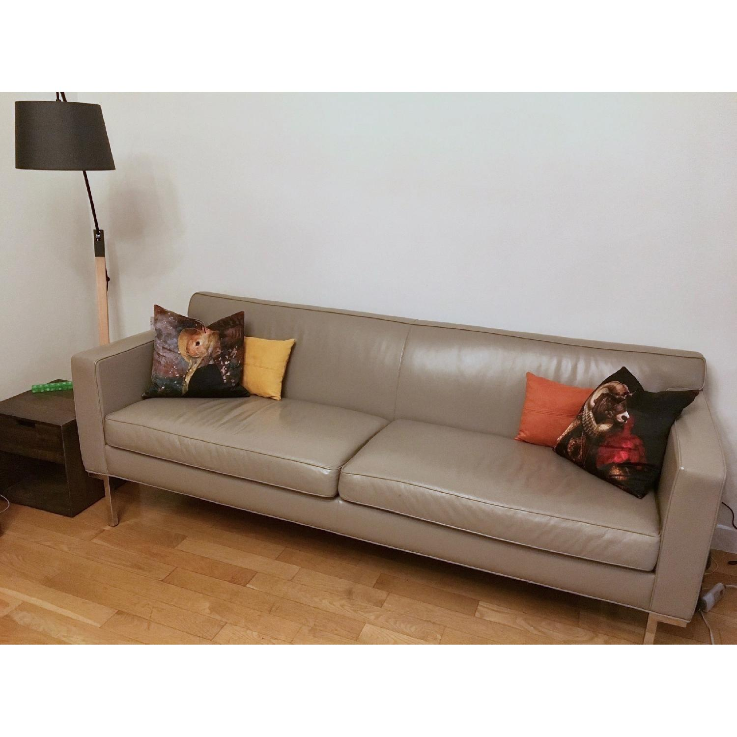 dwr theatre sofa review dark gray living room design within reach in warm grey leather aptdeco 0