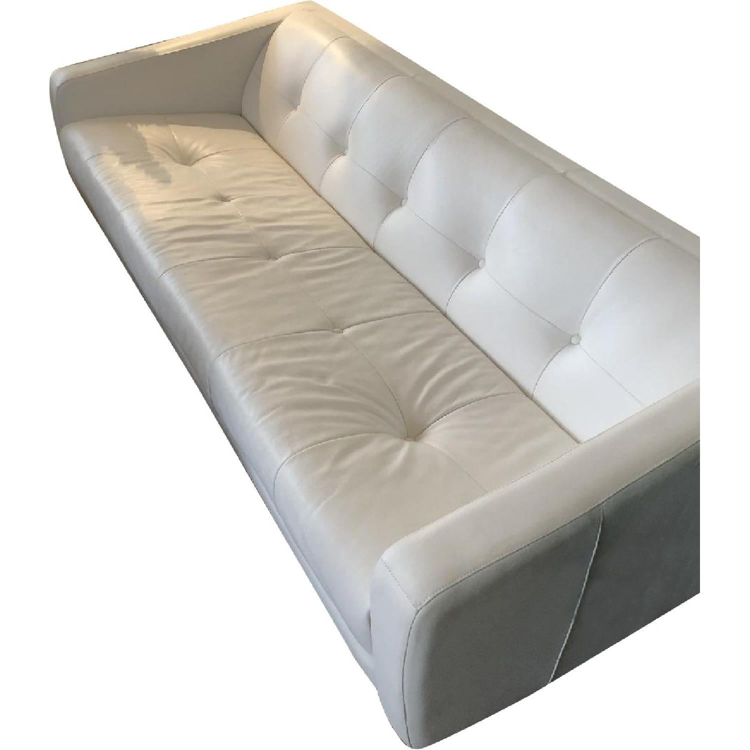 white tufted leather sofa best rated futon bed space interiors custom aptdeco per set of 2