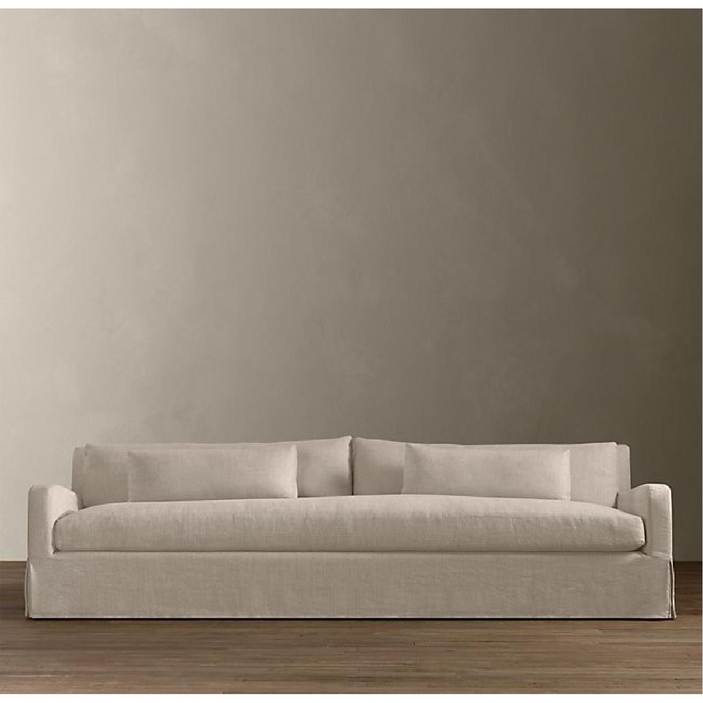 belgian linen sofa greenfront furniture sofas restoration hardware slope arm aptdeco 2