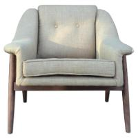 Mid Century Danish Modern Lounge Arm Chair - AptDeco