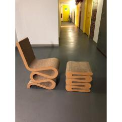 Frank Gehry Cardboard Chairs Video Rocker Chair Vitra Wiggle Stool Aptdeco 0