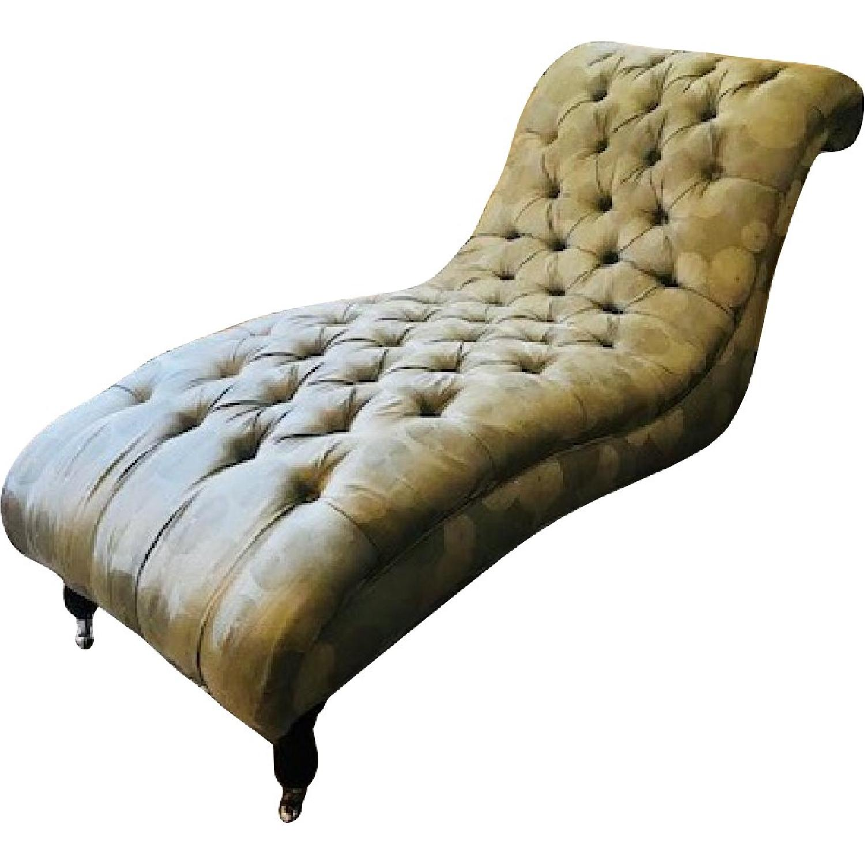 tufted chaise lounge chair ergonomic wayfair mitchell gold bob williams aptdeco slide