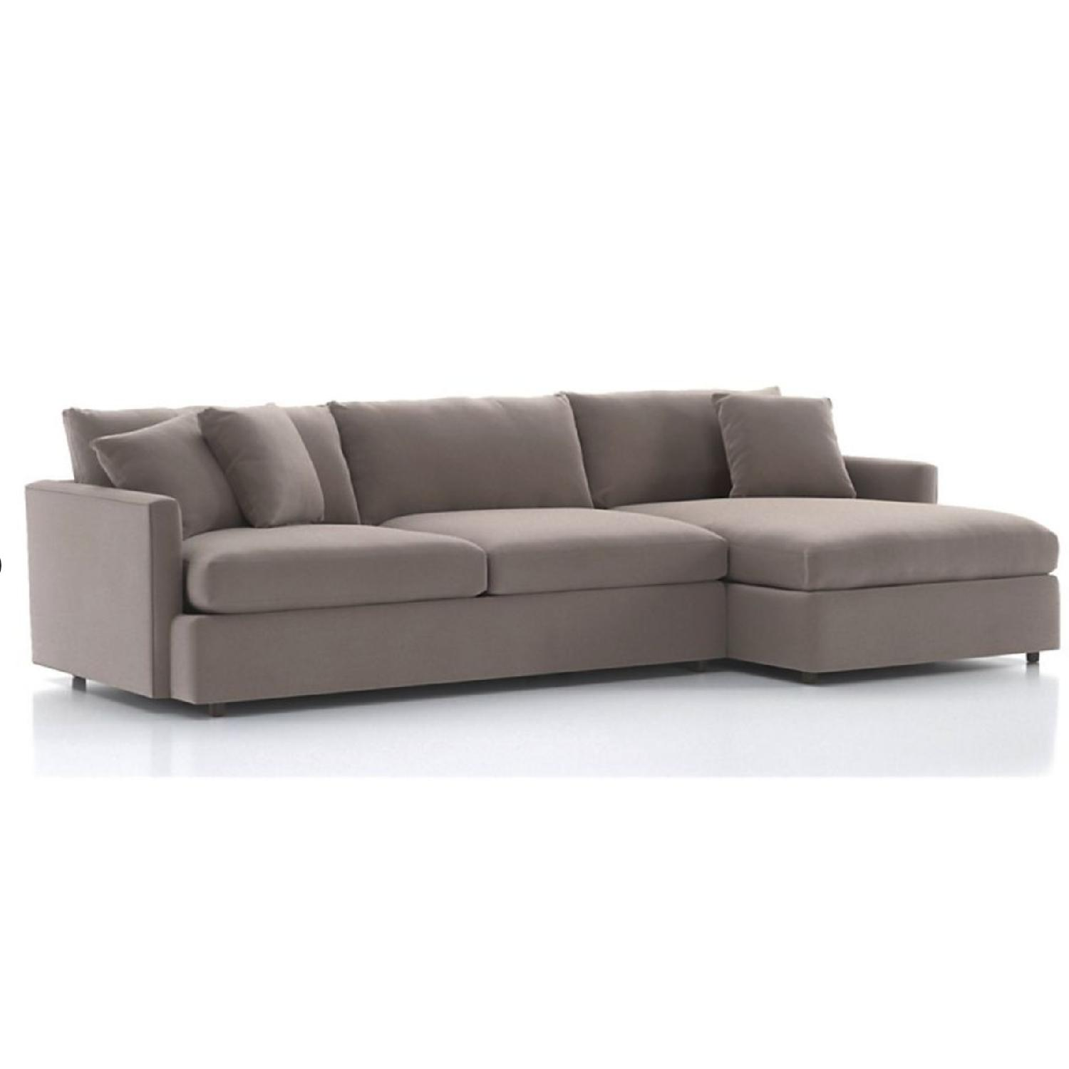 crate and barrel lounge sofa pilling crazy ride ellyson in gray aptdeco ii 2 piece sectional