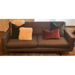 Andre Sofa Grey Leather Queen Sleeper Room Board Aptdeco 3