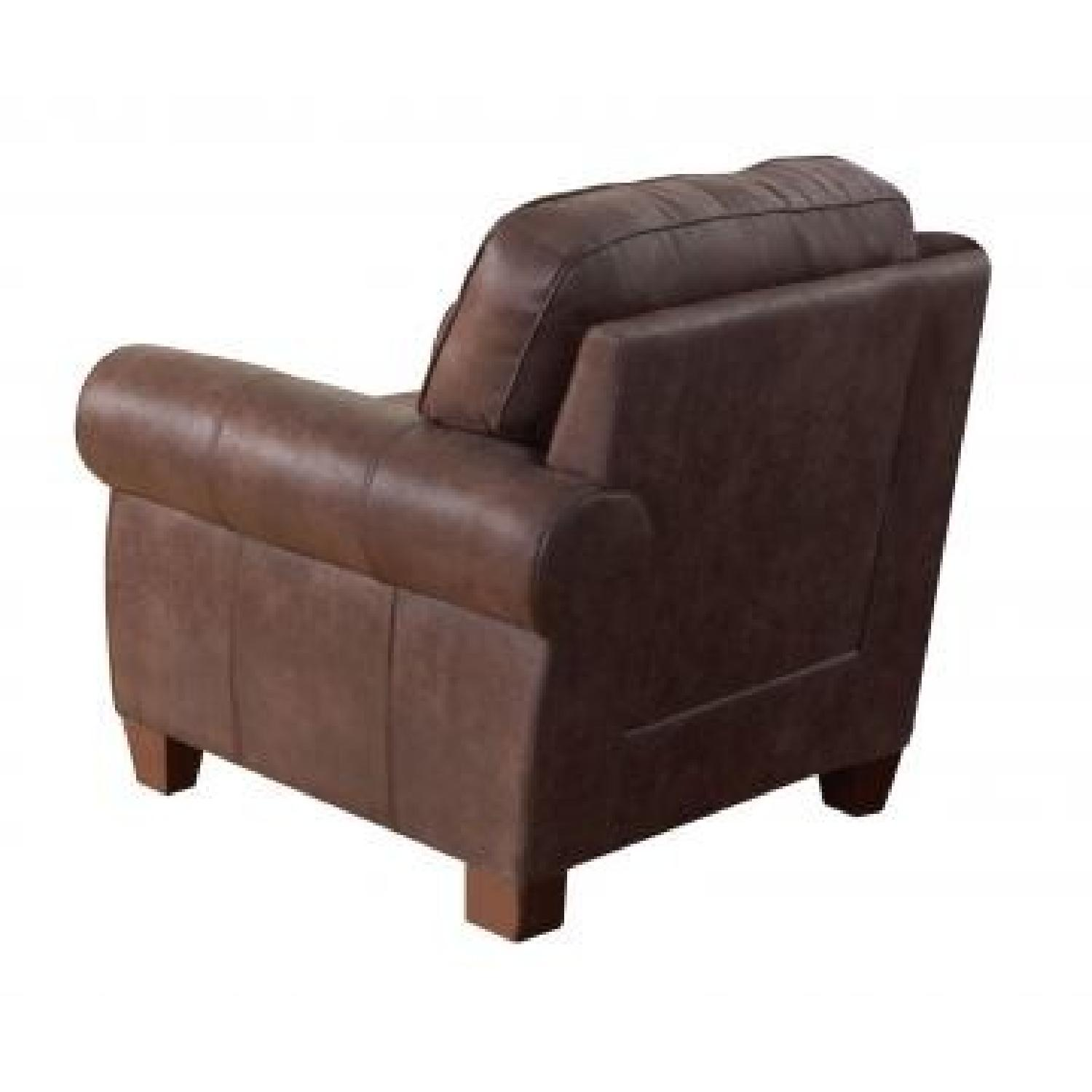Coaster Accent Chair Coaster Brown Faux Leather Retro Style Accent Chair