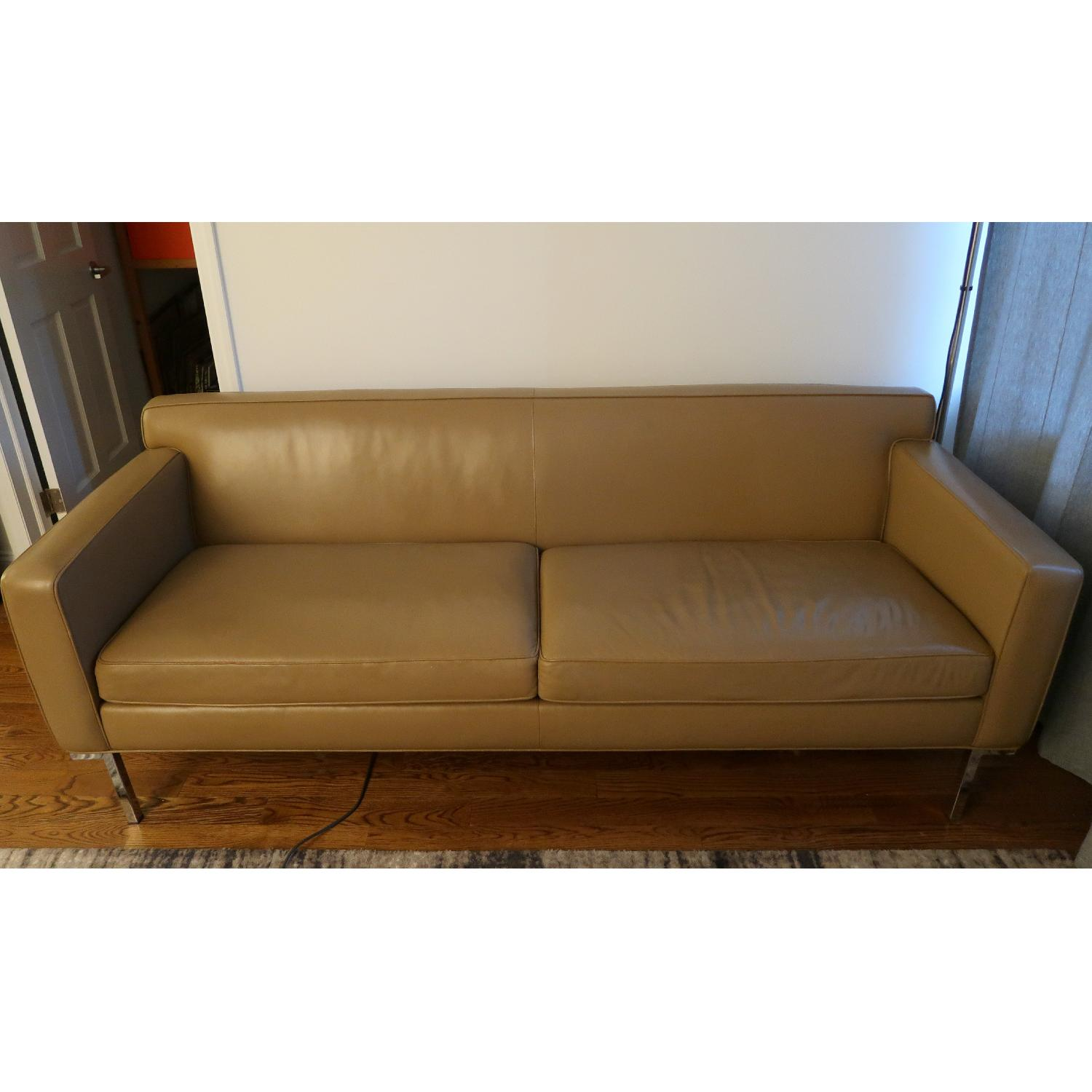 dwr theatre sofa review narrow table plans design within reach in clay leather aptdeco 0