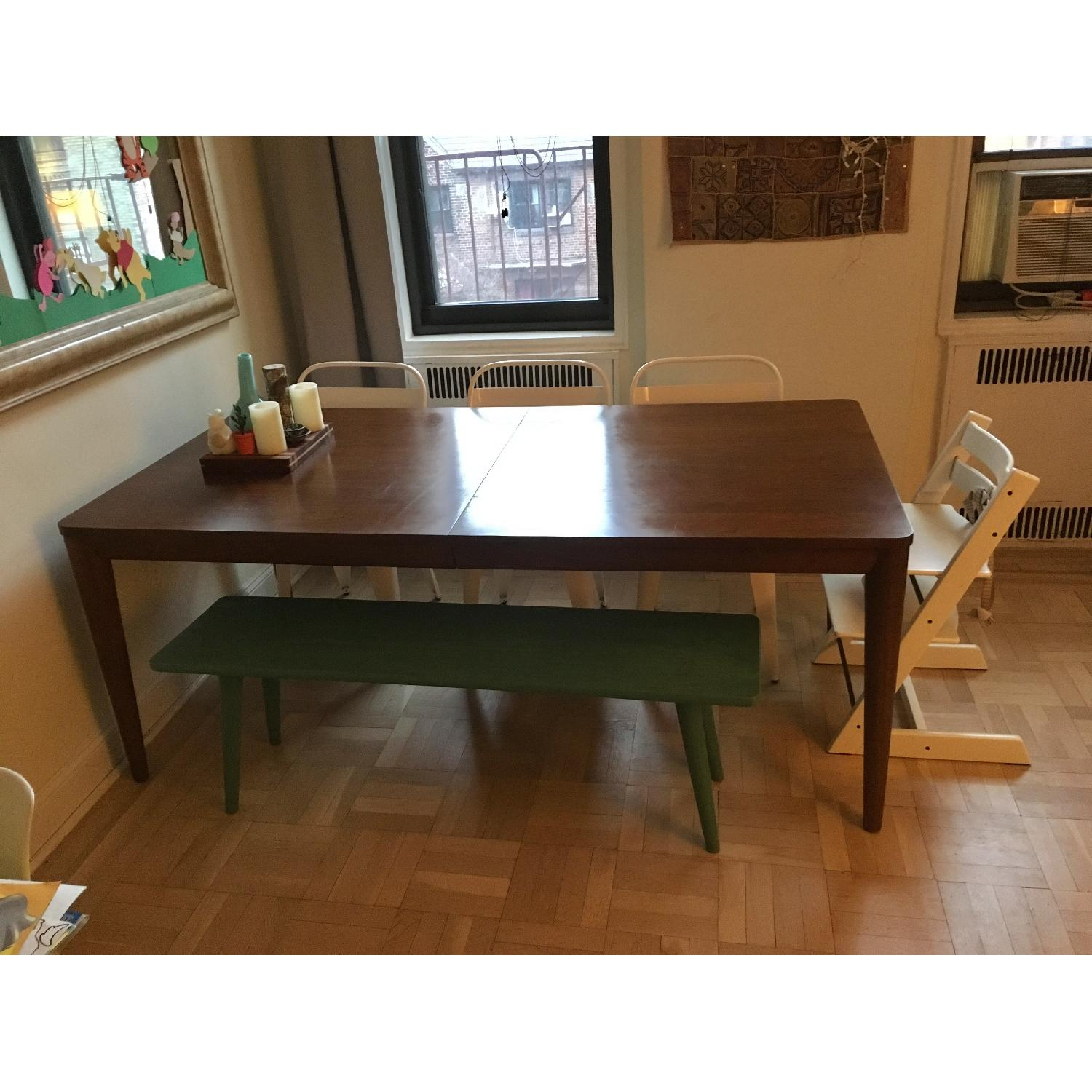 crate barrel oslo extension dining table
