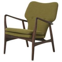 Solid Wood Mid Century Danish Modern Lounge Chair - AptDeco