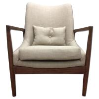 Mid Century Danish Modern Walnut Lounge Chair - AptDeco