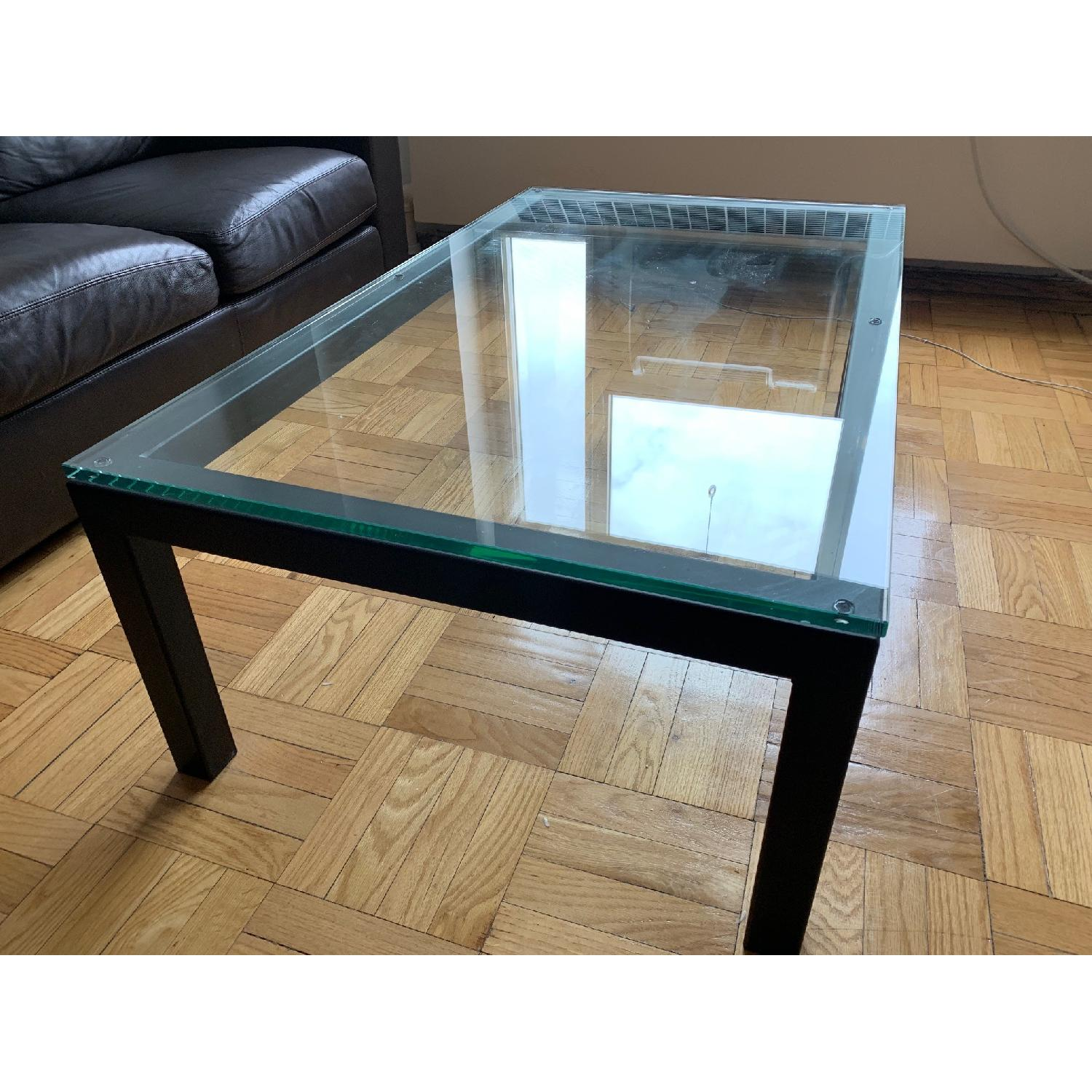 crate barrel parsons coffee table